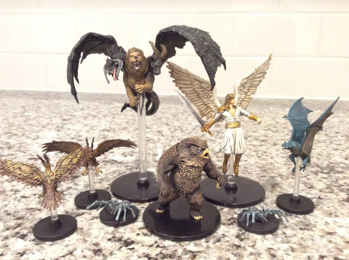 touching up dnd prepainted elemental evil minis show off