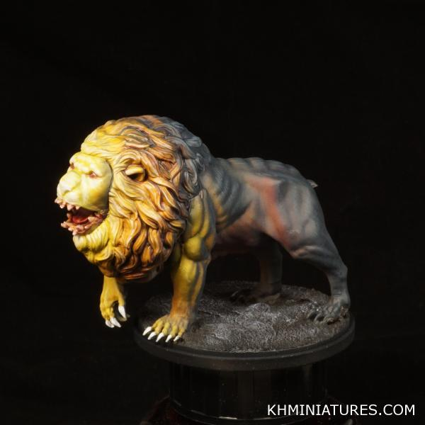 Kingdom Death Monster Painted White Lion