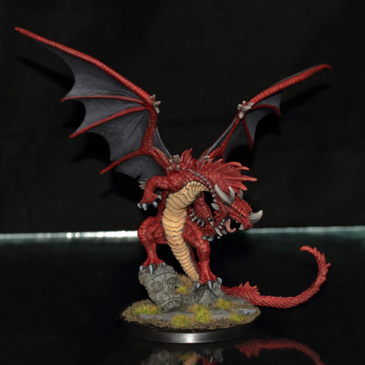 REAPER MINIATURES BONES Pathfinder 89001 Pathfinder Red Dragon