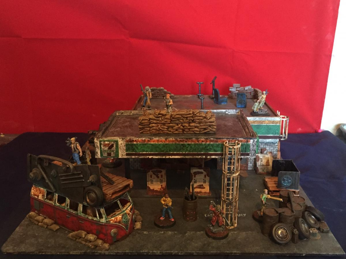 Post Apocalyptic 7 11 Diorama With Reaper And Brigade