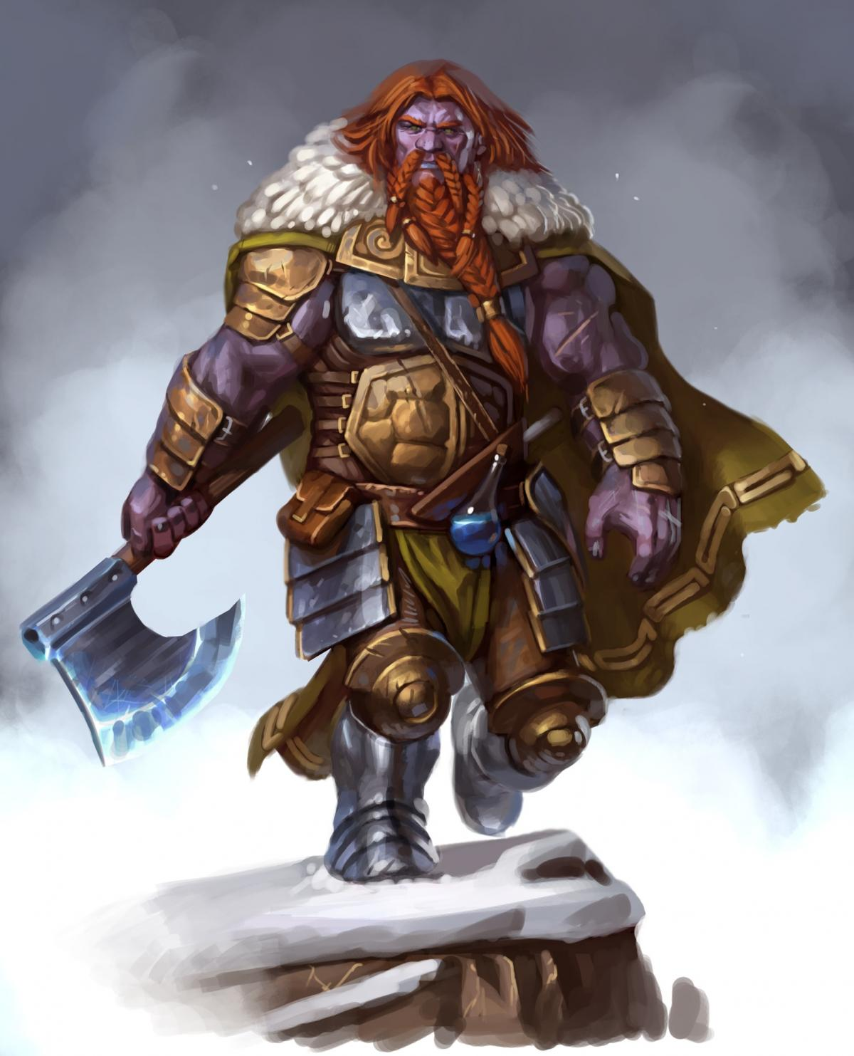 Finished pic...Half Fire giant Barbarian - Show Off ...