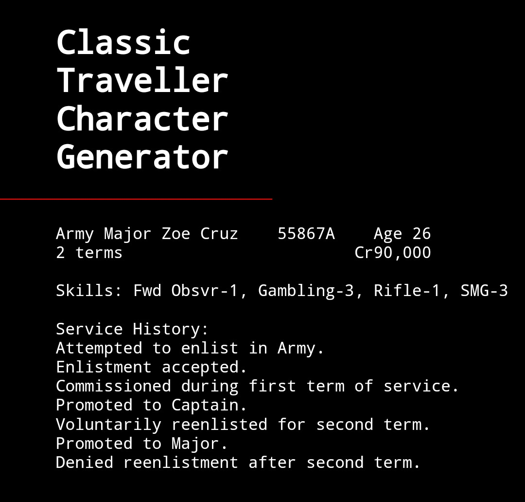 traveller 5 character generator | Leancy Travel