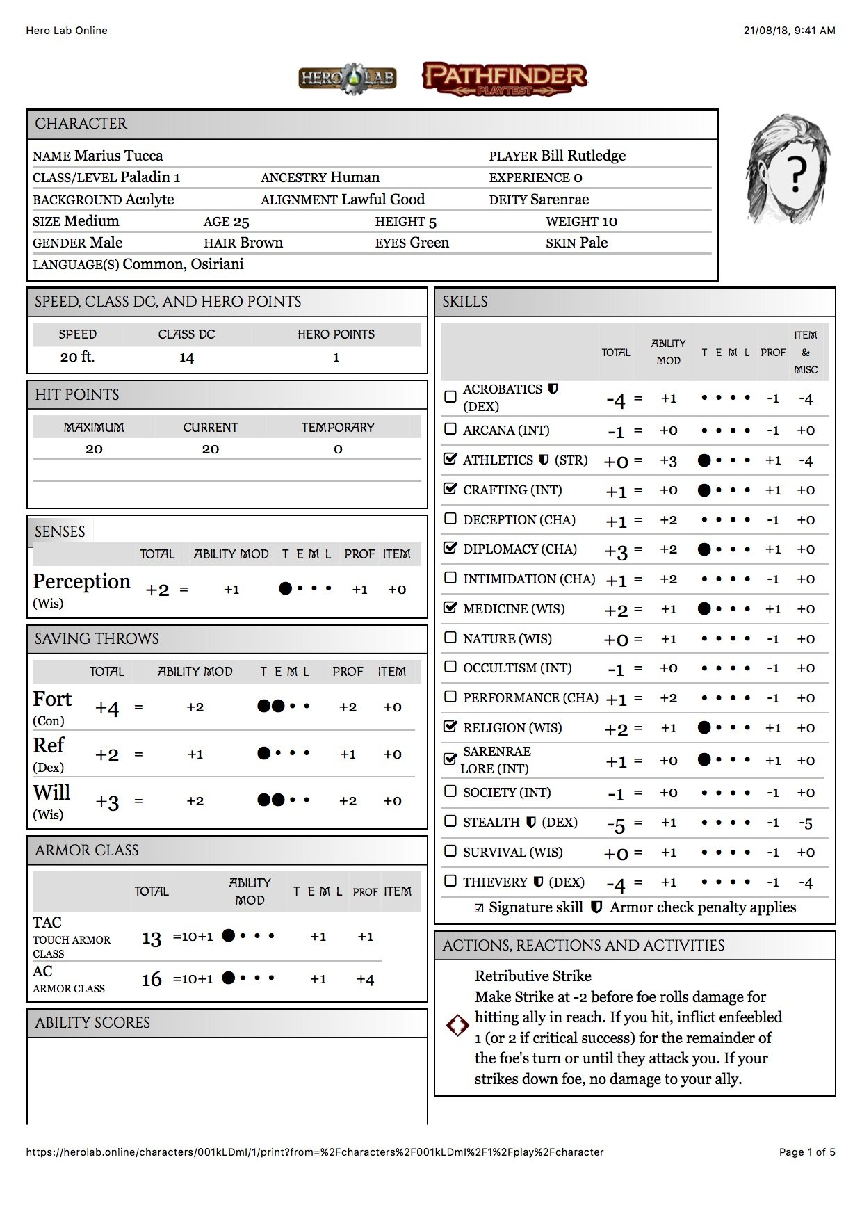 Doomsday Dawn, Pathfinder 2nd Edition Playtest - Page 3