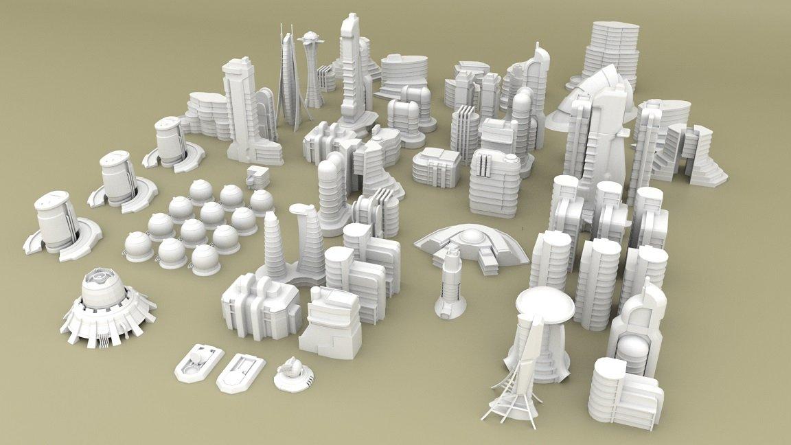 3d Printable Sci-fi Buildings for Tabletop Wargames - Kickstarter